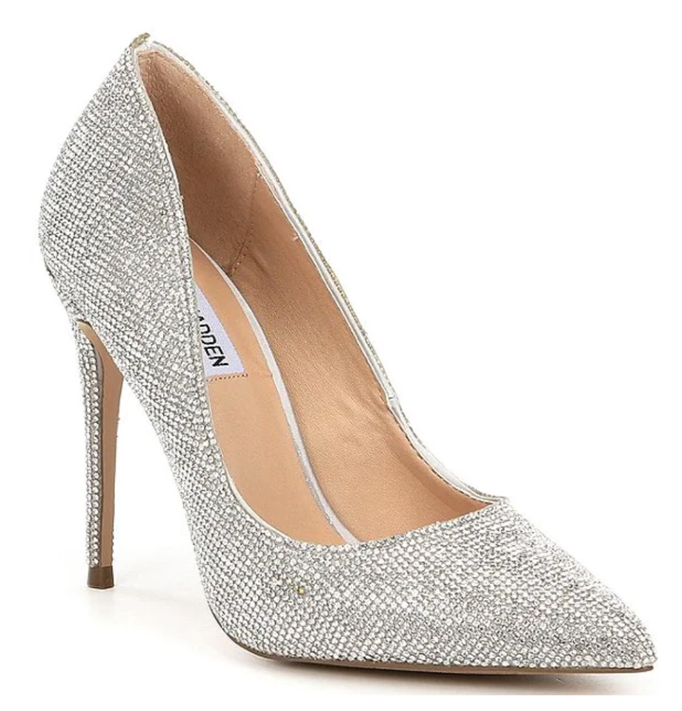 Steve Madden Daisie Crystal Jeweled Pointed Toe Pumps