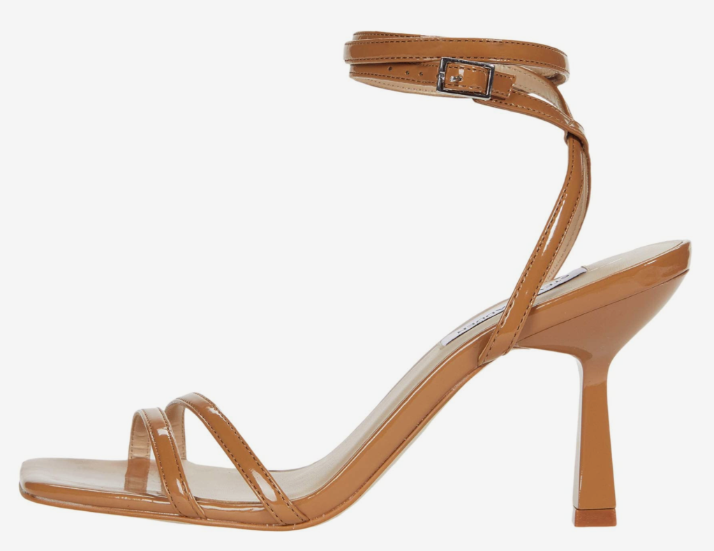 Steve Madden, sandals, ankle-wrap sandals, brown sandals, heeled sandals, strappy sandals