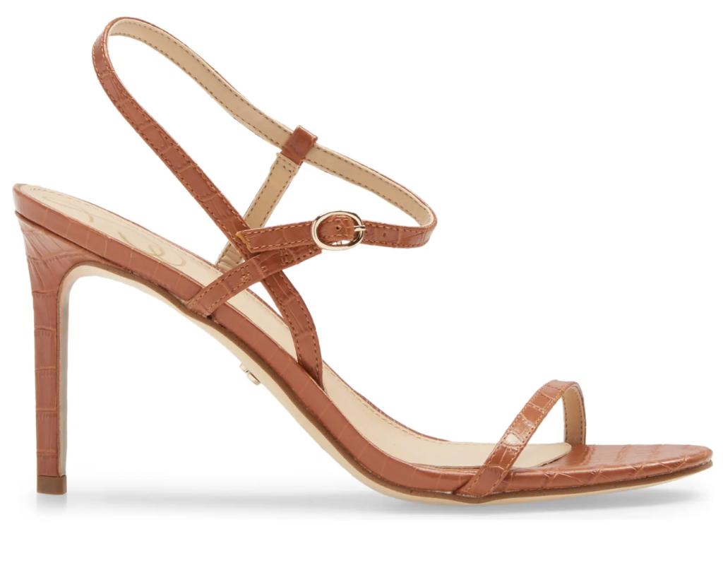 Sam Edelman, sandals, brown sandals, heeled sandals, strappy sandals