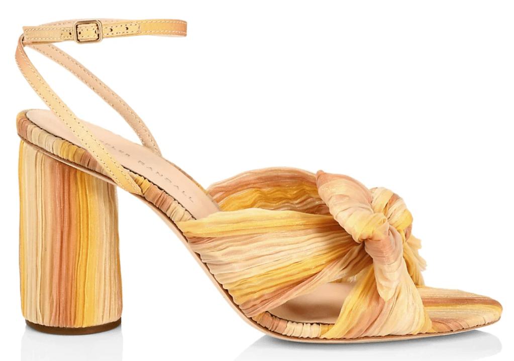 Loeffler Randall, sandals, yellow sandals, heeled sandals