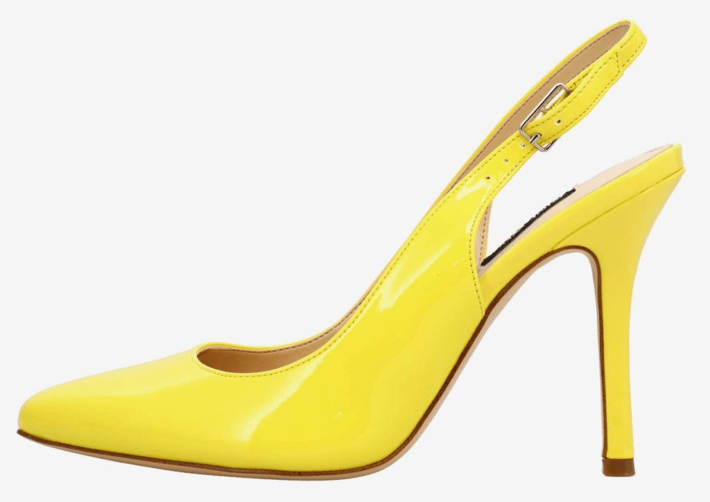 Nine West, yellow pumps, pointed-toe pumps, stiletto pumps, slingback pumps, heels