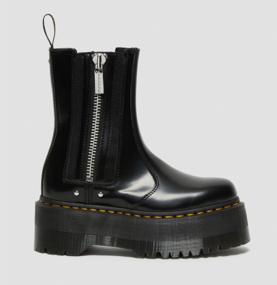 2976 MAX LEATHER PLATFORM CHELSEA BOOTS