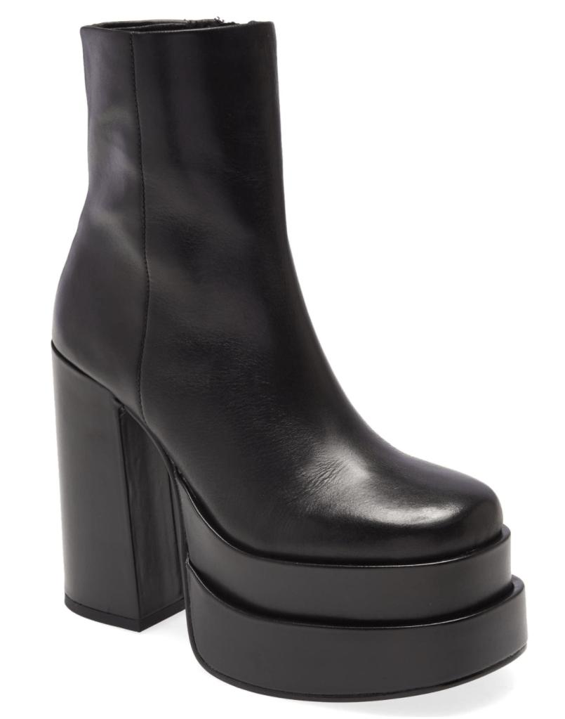 Steve Madden, black boots, platform boots, leather boots