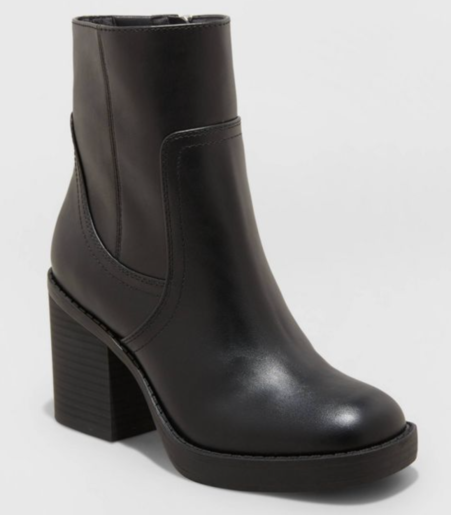 Target, Universal Thread, black boots, platform boots, leather boots, ankle boots