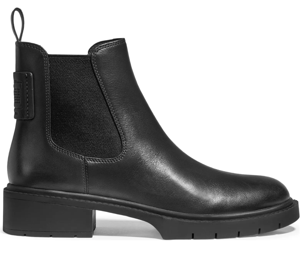 Coach, boots, black boots, leather boots, ankle boots