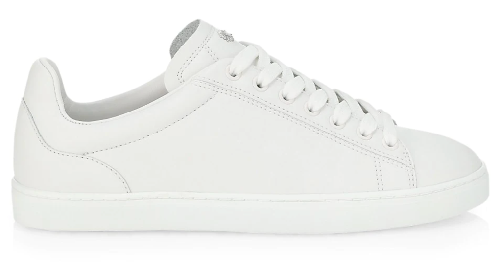 Stuart Weitzman, white sneakers, low-top sneakers, lace-up sneakers