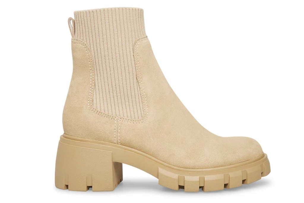 Steve Madden Hutch Sand Suede Boots
