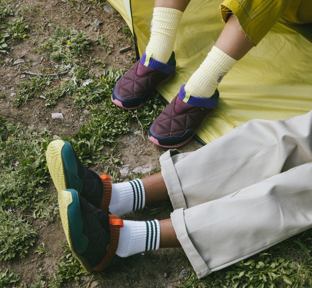 Teva, Cotopaxi, collaborations, slip-on shoes, sneakers, jackets, sustainability