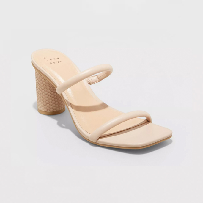 A New Day Cass Square Toe Heels