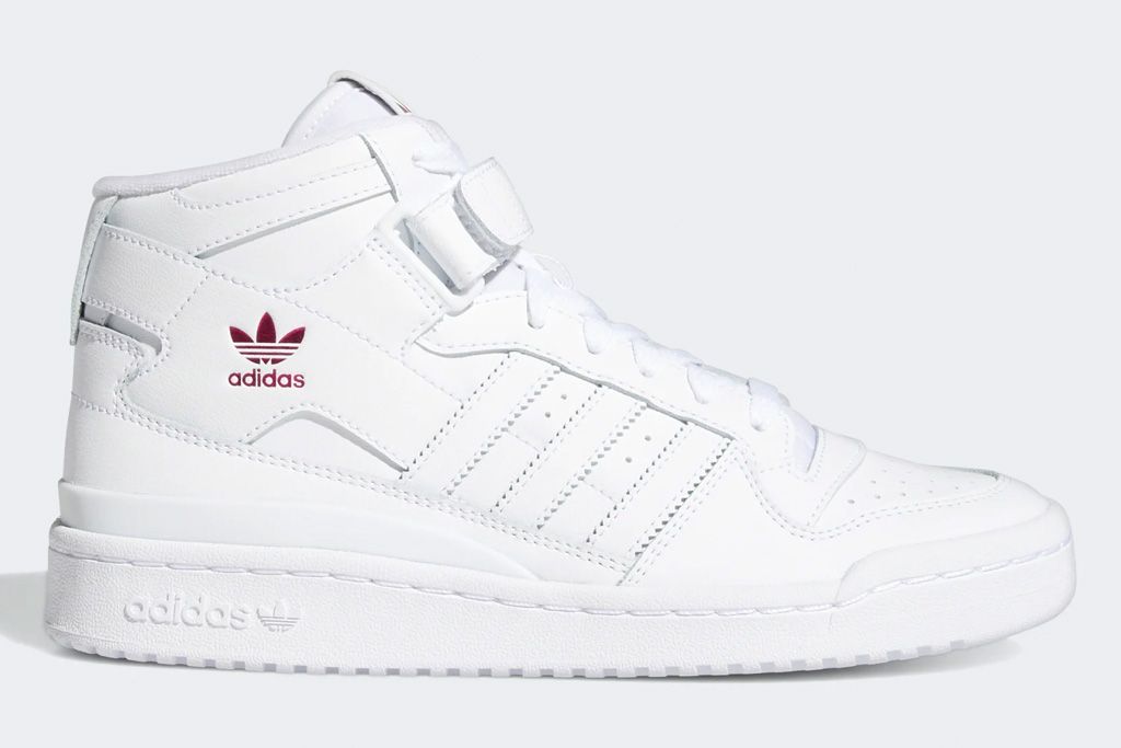 white sneakers, leather, mid, adidas