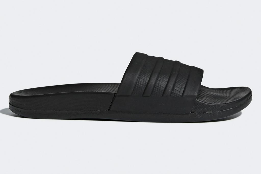 adidas, slides, black