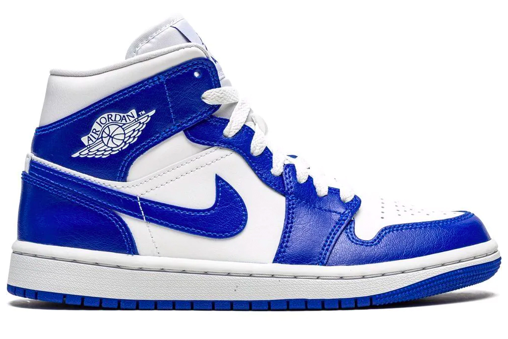 blue sneaker, air jordan