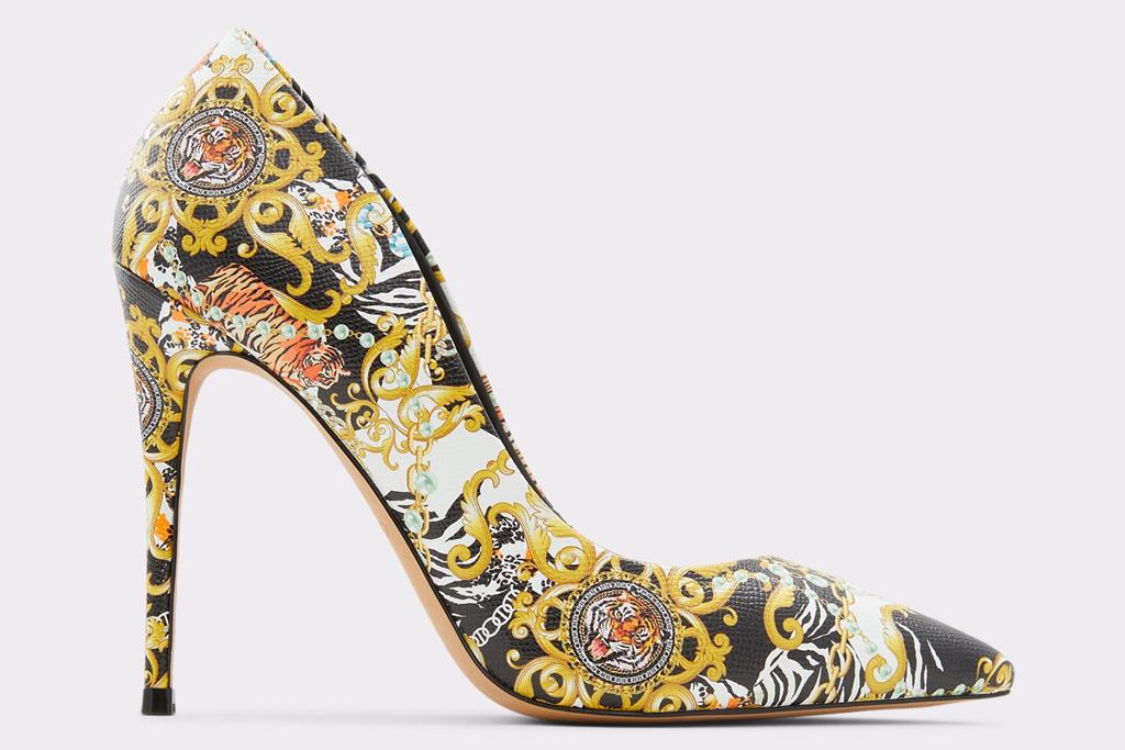 pumps, printed heels, aldo