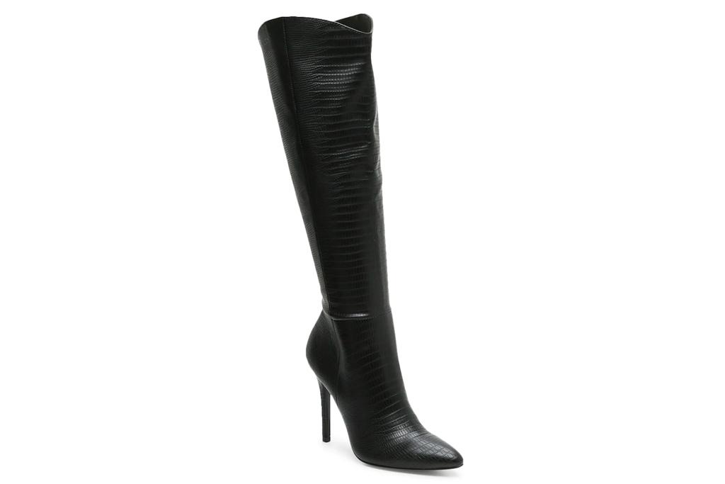 black boots, knee-high boots, charles david