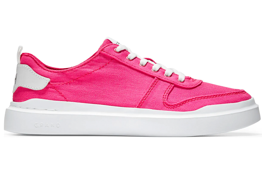 hot pink sneakers, sneakers, shoes, ccole haan