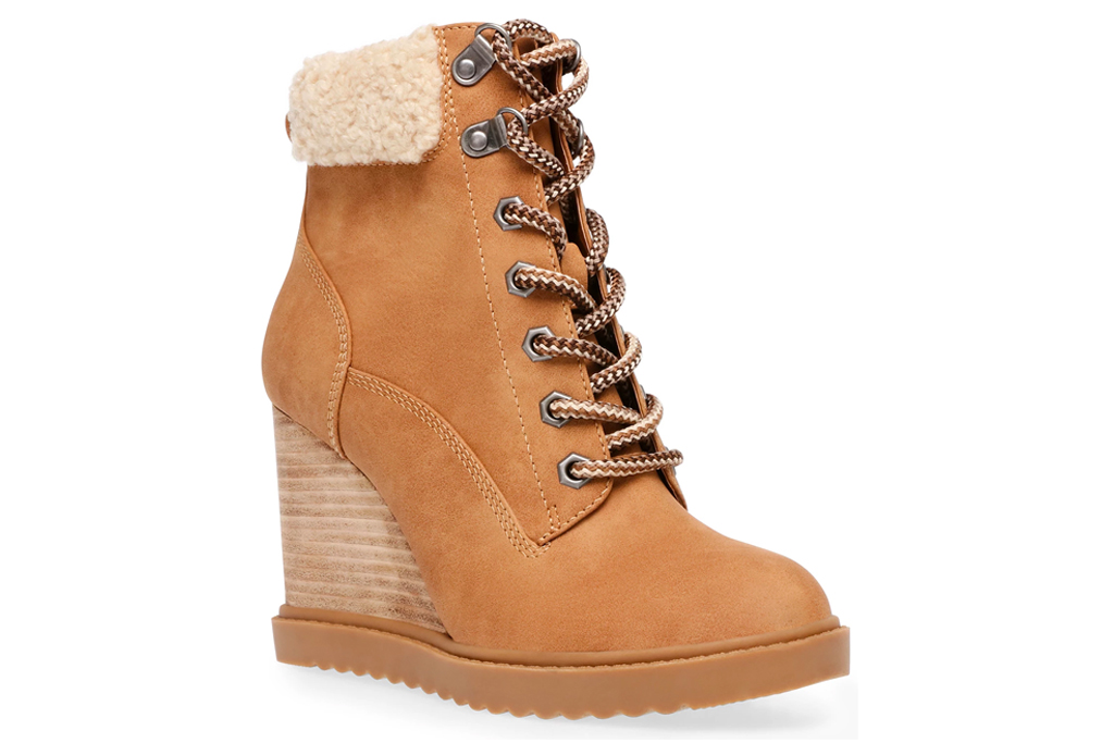 wedge boots, booties, shearling, dolce vita