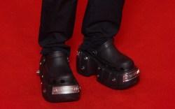 Elliot Page, Balenciaga Crocs, red carpet,