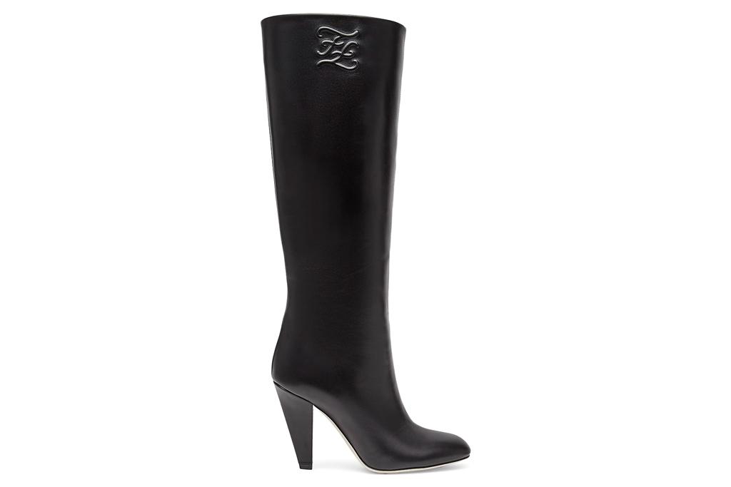 fendi, boots, knee high boots, black