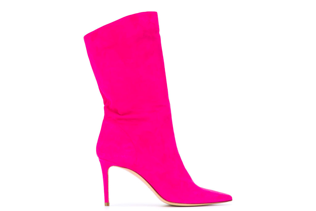 hot pink boots, giuliana galiano