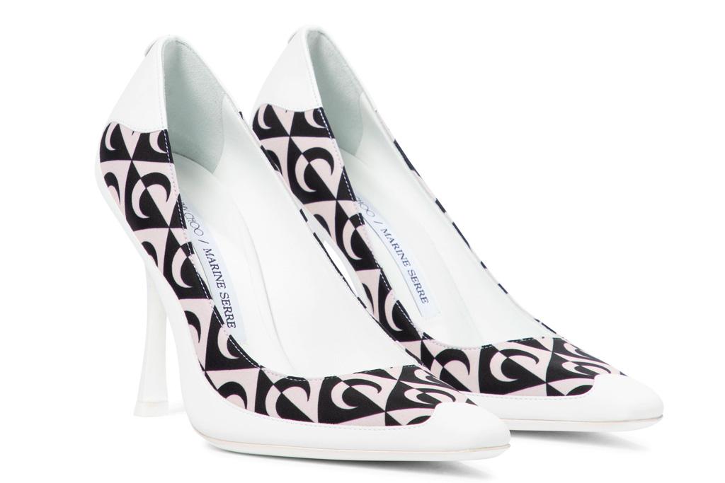 pumps, printed heels, jimmy choo