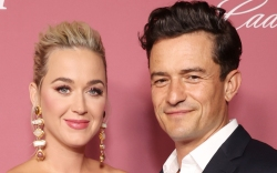 katy perry, orlando bloom, dress, gown,