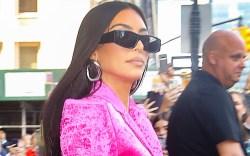 kim kardashian, pink blazer, hot pink,