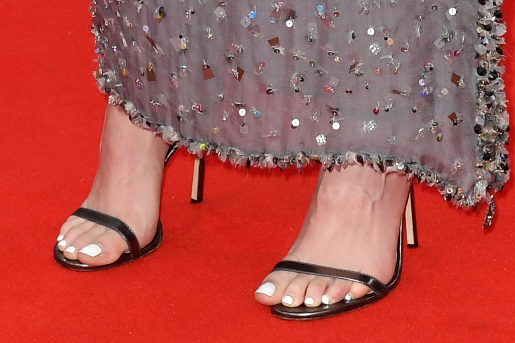 kristen stewart, strapless dress, gown, heels, sandals, red carpet, spencer, london film festival