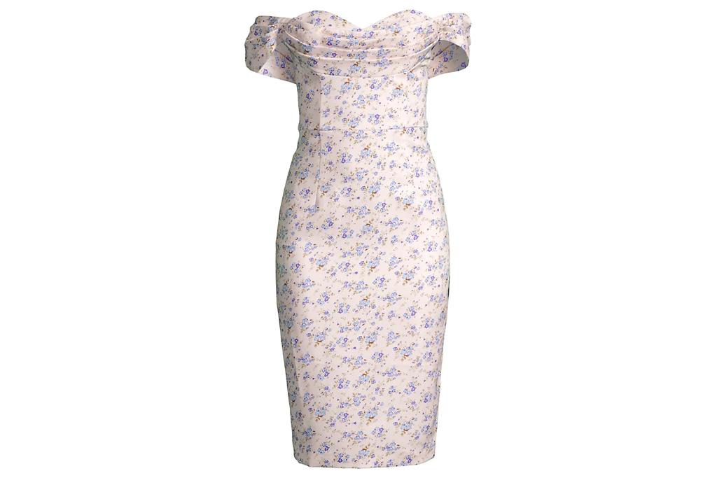 floral dress, off-the-shoulder, lavish alice