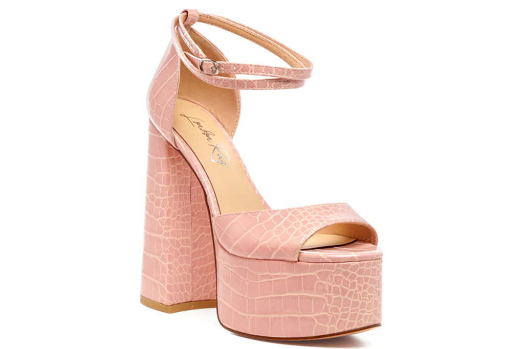 pink heels, dsw, london rag