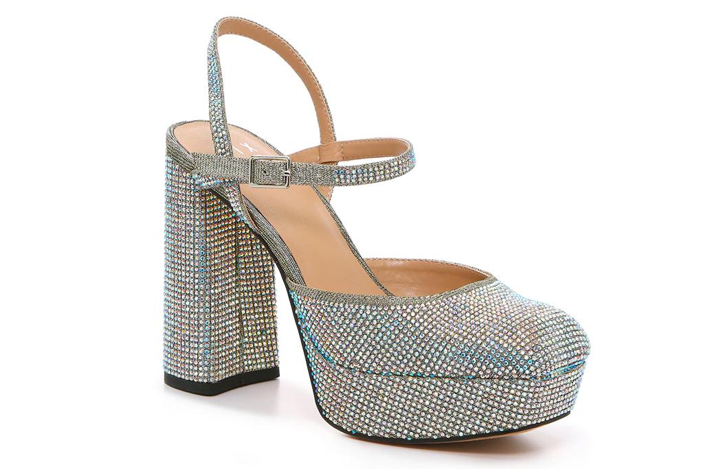glitter heels, platforms, mix no 6