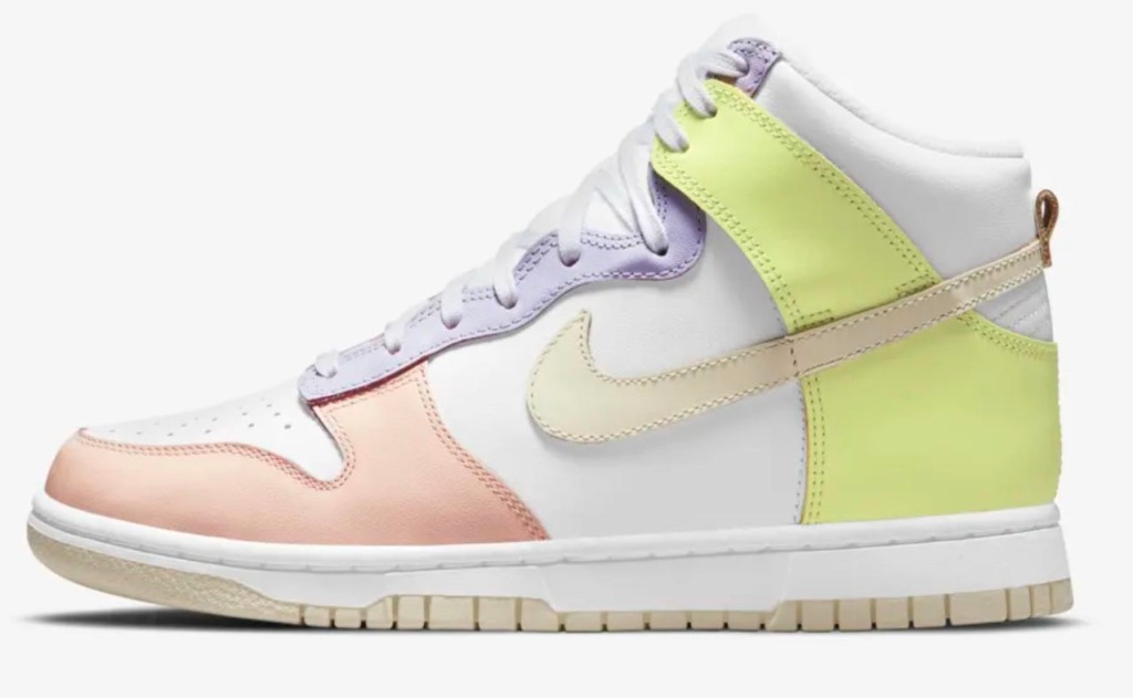 nike dunk high womens cashmere sneakers pastel
