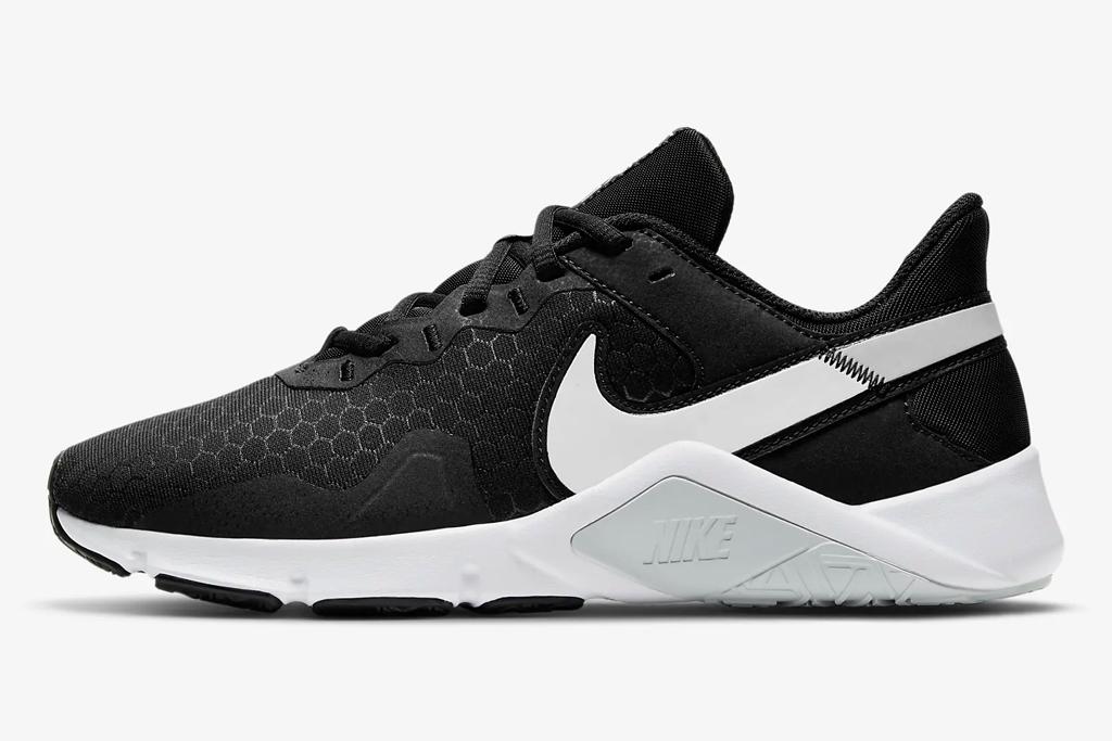 sneakers, black, white, nike