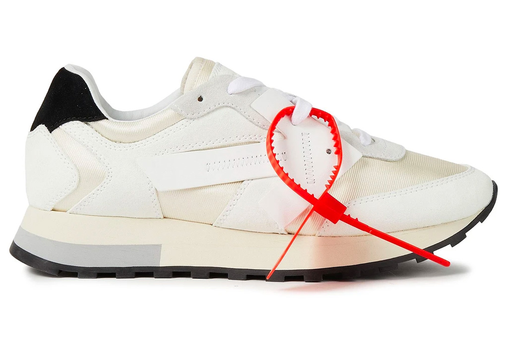 white sneakers, leather, mid, off-white