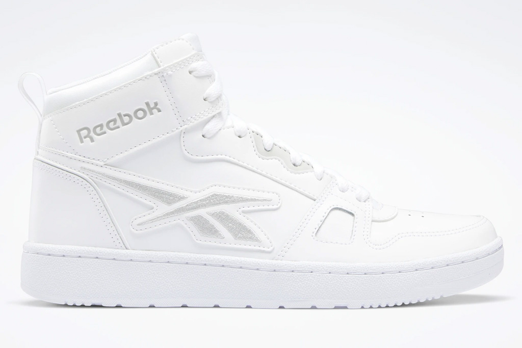 white sneakers, leather, mid, reebok
