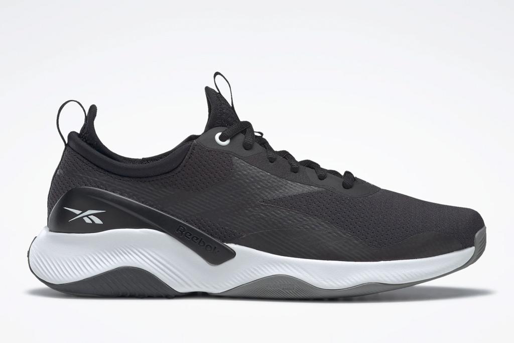 sneakers, black, white, reebok