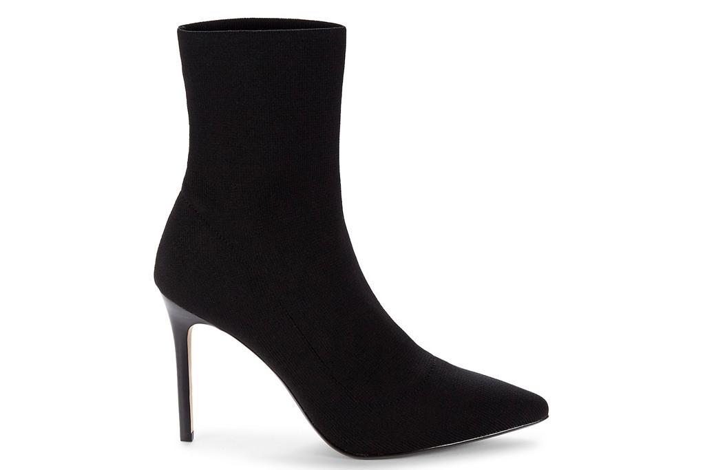 sock boots, black, heel, saks