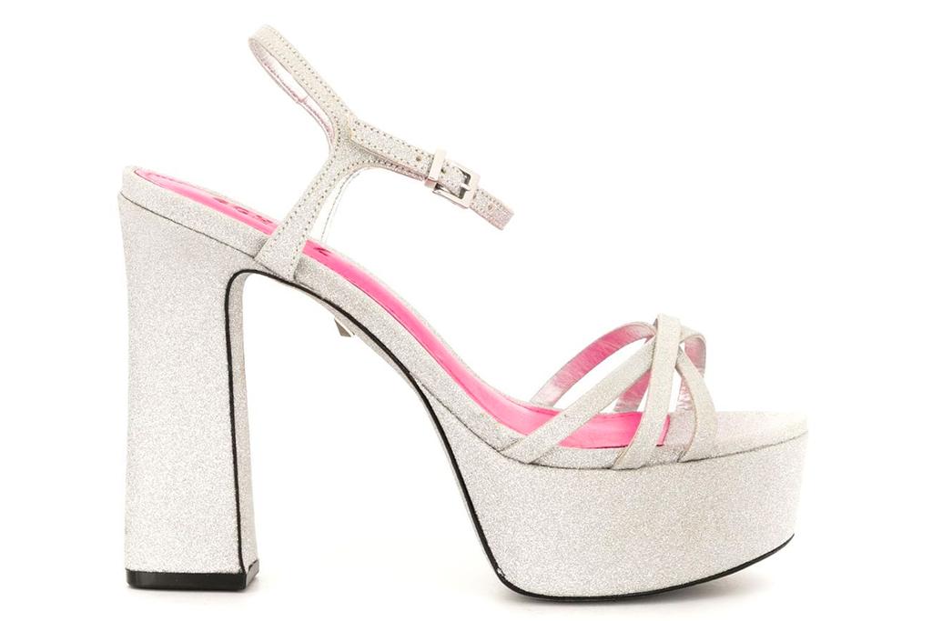 glitter heels, platforms, schutz
