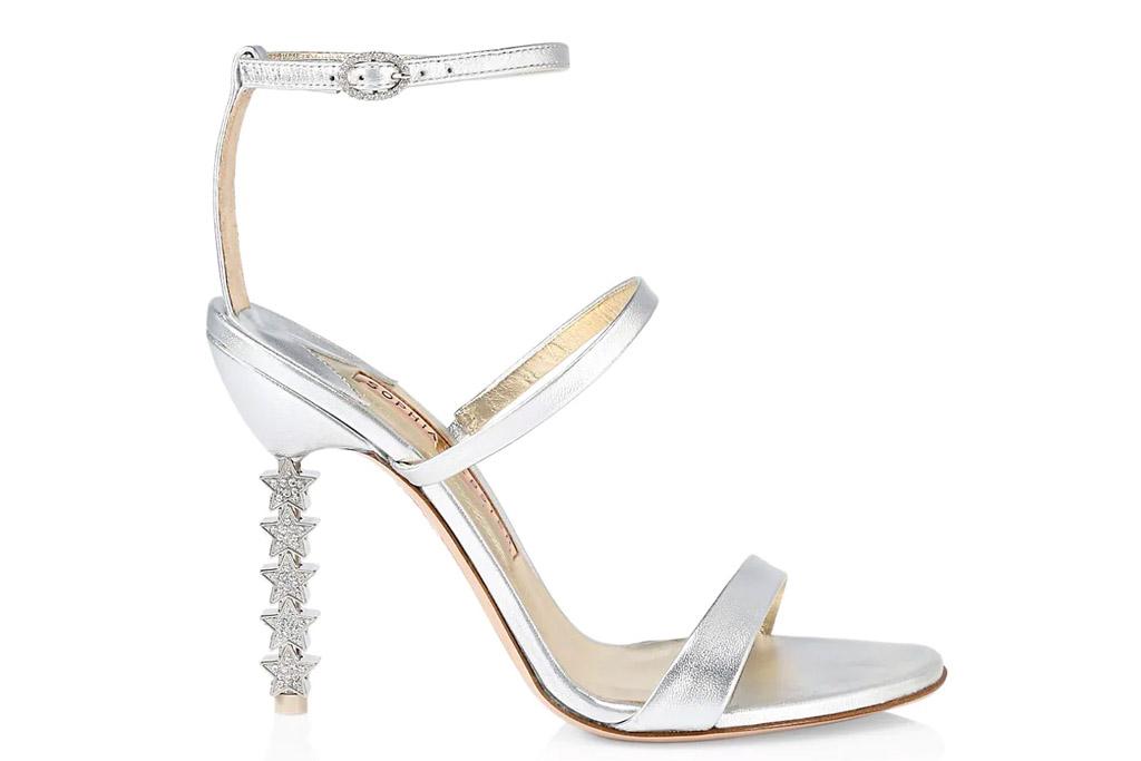 white sandals, heels, sophia webster