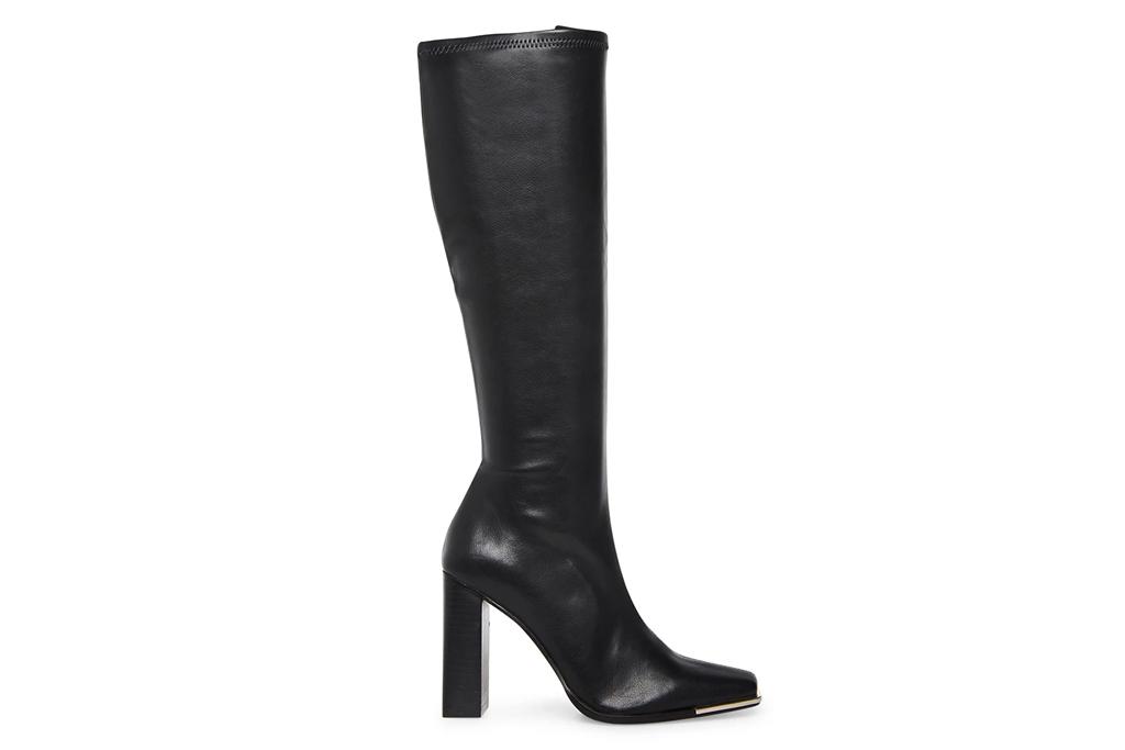 black boots, knee-high boots, steve madden