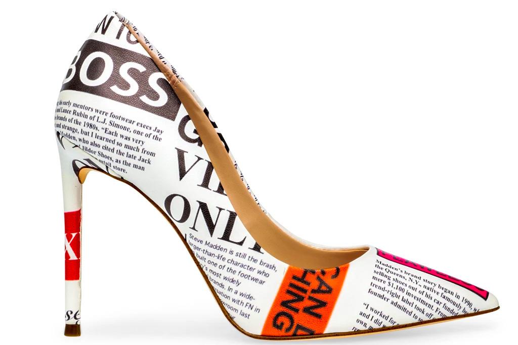 pumps, printed heels, steve madden