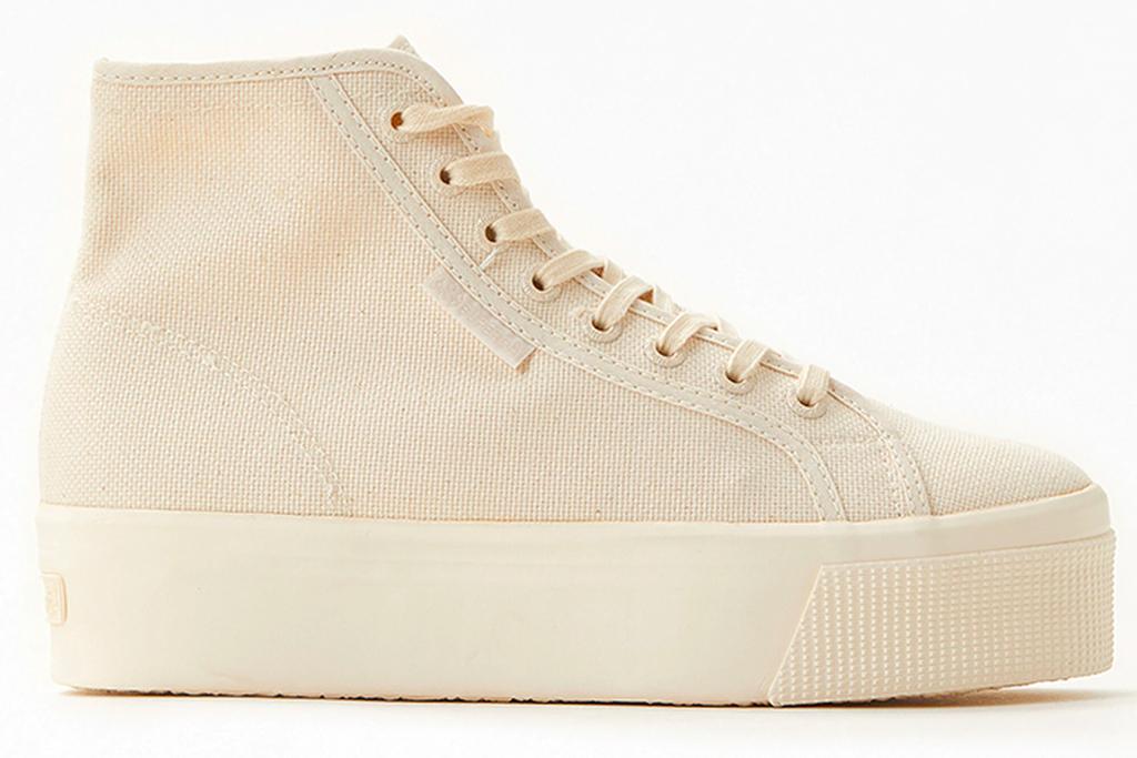 canvas sneakers, high top, superga