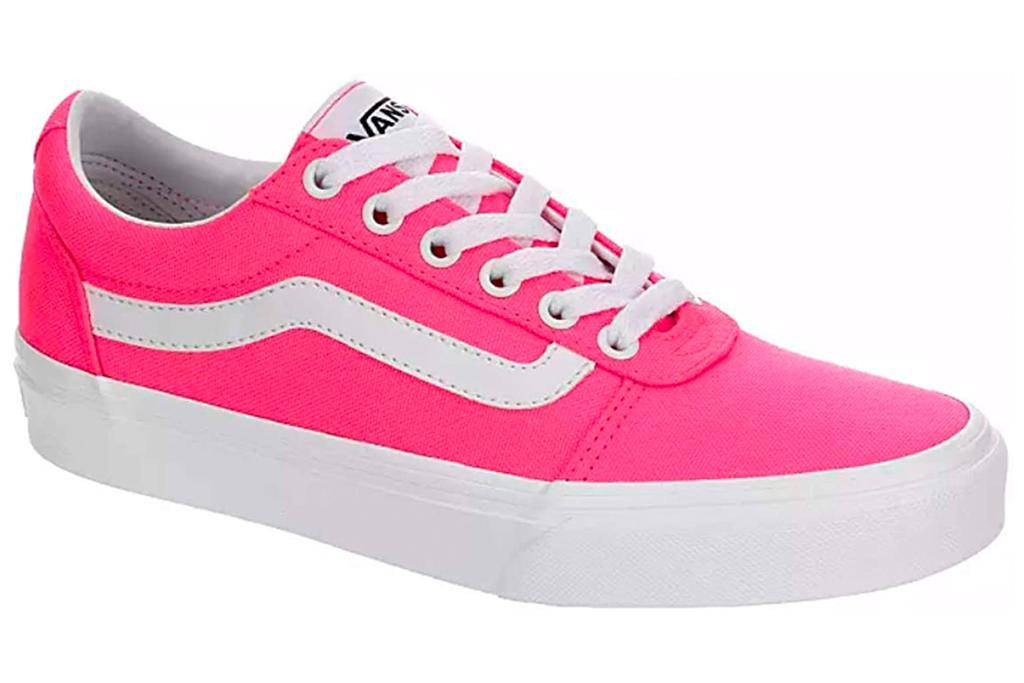 hot pink sneakers, sneakers, shoes, vans