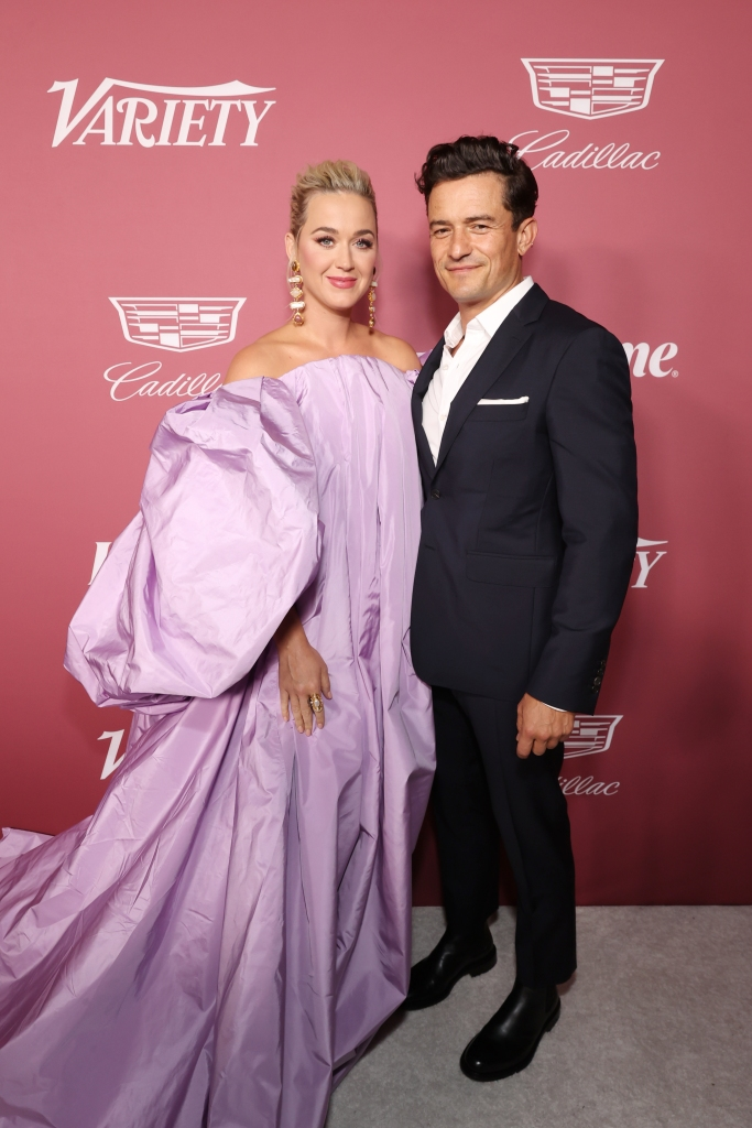 BEVERLY HILLS, CALIFORNIA - SEPTEMBER 30: (L-R) Katy Perry and Orlando Bloom attend Variety's Power of Women Presented by Lifetime at Wallis Annenberg Center for the Performing Arts on September 30, 2021 in Beverly Hills, California. (Photo by Emma McIntyre/Getty Images for Variety)