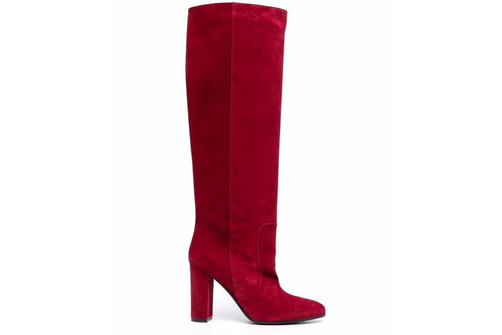 burgundy boots, knee high, via roma
