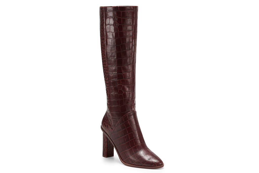 brown boots, heeled, slouchy, leather, vince camuto